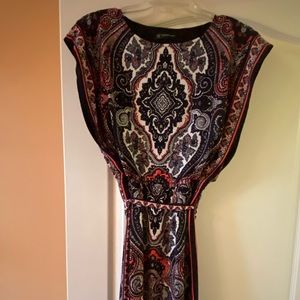INC Petite Paisley Print Dress Sz M!